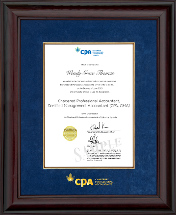 718235d6b2e4 Glossy mahogany wood frame for the new vertical 11x14 CPA certificates
